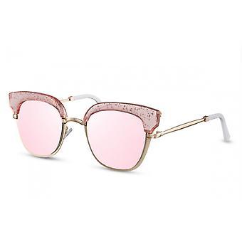 نظارات شمسية المرأة الفراشة Cat.3 الذهب / الوردي (CWI1382)