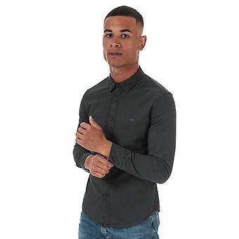 Men's Levis Slim Fit Long Sleeve Shirt in Grey