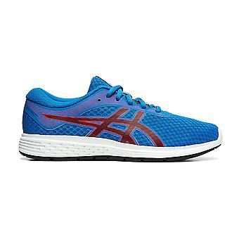 Asics Patriot 11 Kids Running Fitness Training Trainer Shoe Blue/Red