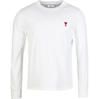 Ami Heart Logo Long Sleeved T-Shirt