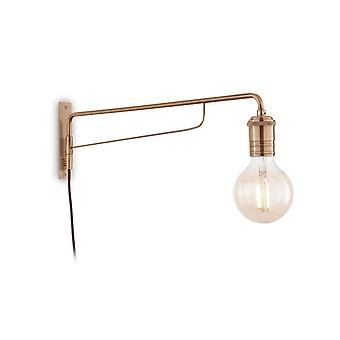 Ideal Lux Triumph - 1 Light Wall Light Antique Brass