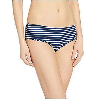 Essentials Naiset's Hipster Bikini Uimapuku Bottom, Navy Raita, S