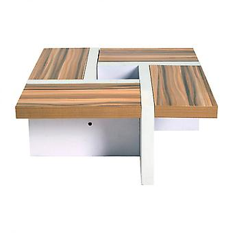 Rebecca Furniture Table Low Wood White Brown Design Modern 35x80x80