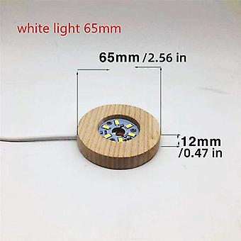Wood Color Base White/warm Light Rechargeable Remote Control Wooden Led Light