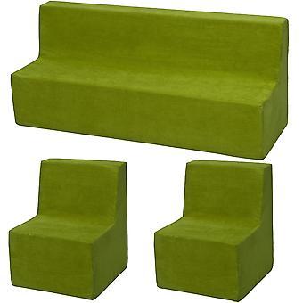 Mobili in schiuma set bambino esteso verde