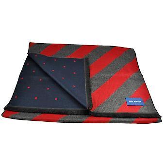 Krawatten Planet Lupi Romani rot & grau gestreift & Marine & rote Polka Dot gemusterte Doppel Gesicht Schal