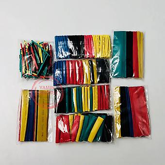328pcs/set Sleeving Wrap Wire Car Electrical Cable Tube- Kits Heat Shrink Tube,