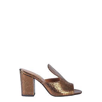 Paris Texas Px56plstonewashbronze Women's Bronze Leather Slippers