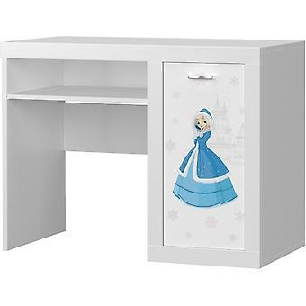 Kinder bureau Frozen prinses100x80x52 cm - wit - met opbergschap