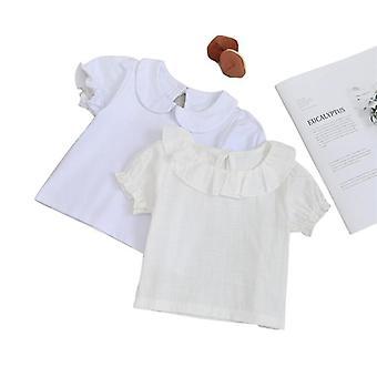 Baby Shirt pamut rövid ujjú blúz - nyári gyerekek ing lányoknak
