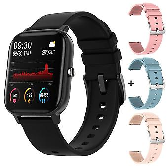 Blood Pressure Round Smartwatch Waterproof Sport Tracker Whatsapp