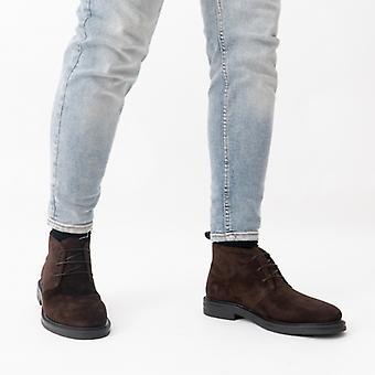 Gant Kyree Mens Suede Desert Boots Dark Brown