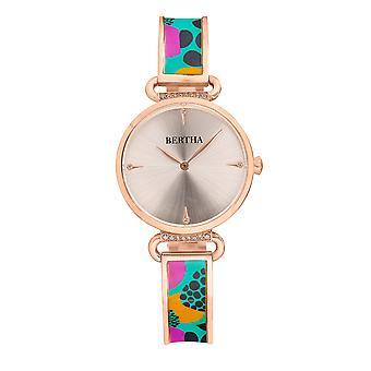 Bertha Katherine Enamel-Designed Bracelet Watch - Turquoise