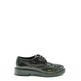 Tod's Ezbc025135 Women's Black Leather Lace-up Shoes
