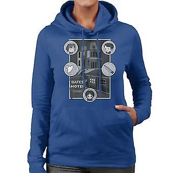 Psycho Bates Motel Kawaii Character Icons Women's Hooded Sweatshirt