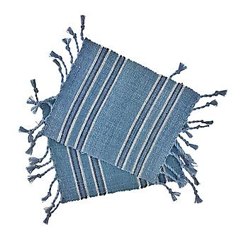 Striped Fringe Coasters