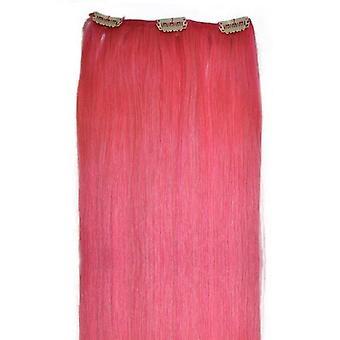 ピンク - 毛の部分にクリップ - 18 インチ