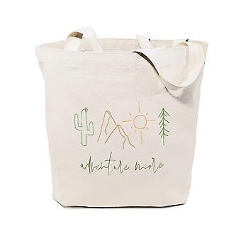 Adventure More-cotton Canvas Tote Bag