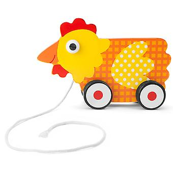 Push-n-Pull Plaid Hen