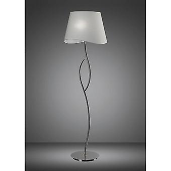 Ninette Floor Lamp 4 Bulbs E27, Polished Chrome With Ivory White Shade