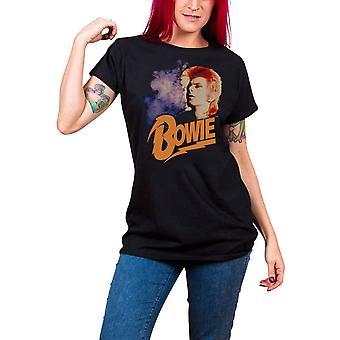 David Bowie T Shirt Retro Bowie ziggy nouveau officiel Womens Skinny Fit noir