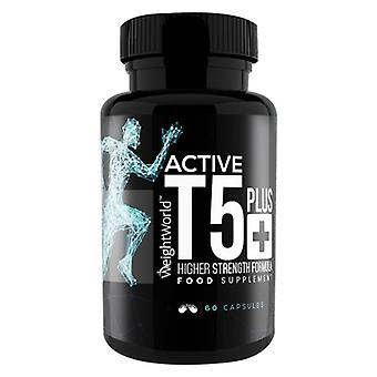 Active T5 Plus - 60 Capsules. High Strength Natural Thermogenic Weight Management Pills, Targets Fat, Boosts Metabolism, Vegan & Keto Formula