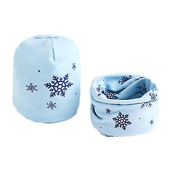 Hut Schal Set, Cartoon Schafe Eule Sterne Baby, Winter-Kragen