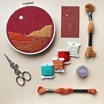 Desert Landscape Diy Beginner Embroidery Kit