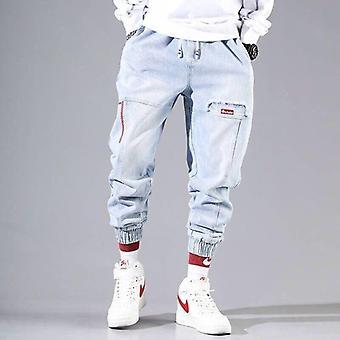 Streetwear Hip Hop Cargo Men's Jeans Cargo  Elastic Pants
