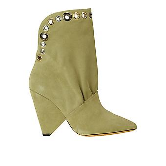 Iro Ezgl180051 Women's Green Suede Ankle Boots
