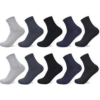 Men Bamboo Fiber Socks, Autumn Long Black Business Casual Man Dress Sock