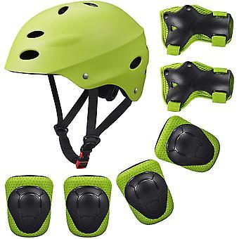 Kids Protective Gear Set, 7 in 1 Adjustable Bike Helmets for 3-8 Years Old