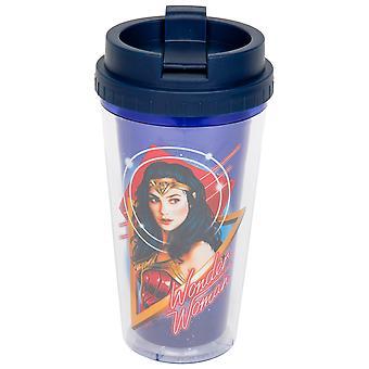 Wonder Woman 1984 Tecken Print 16oz Dubbelvägg plast Resor Mugg
