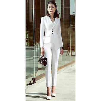 Spring And Autumn Peak Lapel Slim 2 Piece Set