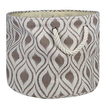 Dii Polyester Bin Ikat Stone Round Large