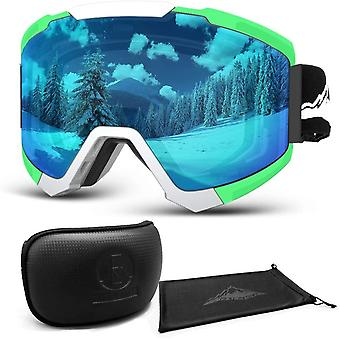 Extra Mile Design Patent Ski Goggles, Anti-fog and UV400 Protection - Snowboard Snowmobile Goggles