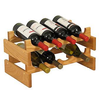 Legno Mallet 8 Bottiglia Dakota Wine Rack, Rovere Chiaro