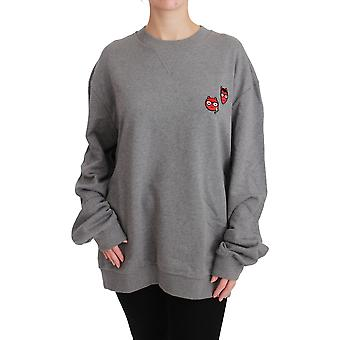 Gray Men #dgfamily Pullover Cotton Sweater