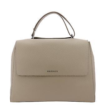Orciani Bt1979softconchiglia Women's Beige Leather Shoulder Bag