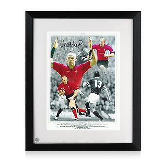 Gareth Thomas Signed Wales Rugby Photo. Framed