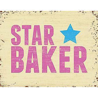The Original Metal Sign Company Star Baker Fridge Magnet