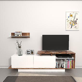 Martin Tv Port Meubelen Witte Kleur, Melamine Spaanplaat Hout, L180xP30xA53.2 cm