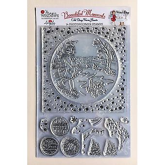 Angela Poole A5 clear stamp set talvipäivät