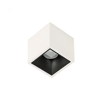 Lémpara De Techo Spot Técnica Y Moderna Alden Weiß Schwarz Tief 3000k Blanco Negro