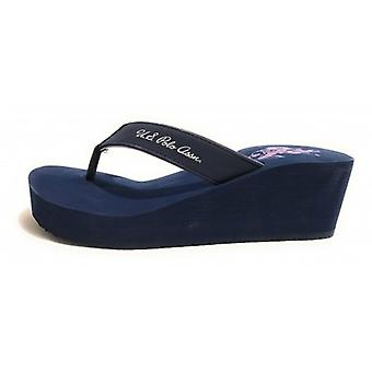Teenslippers Amerikaanse Polo Teenslippers Zeppa Mod. Rubber Tansy Tc 60 Pl 20 Navy Ds18up16