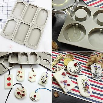 Diy Aromatherapy Tablets Molds Hanging Wax, Flower Soap Mold Craft Accessories