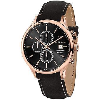 Maserati R8871636003 Men's Gentleman Chronograph Black Strap Montre-bracelet