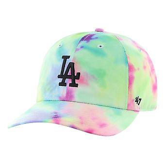 47 MLB LA Dodgers Tye Dye Clean Up MF Cap - White