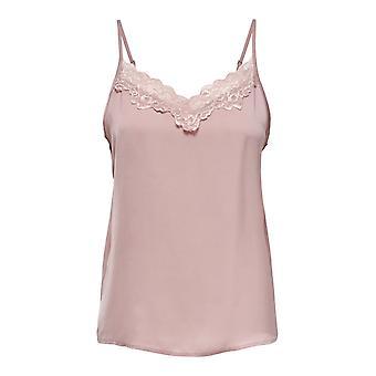 JDY mujeres tank top encaje camisa sin mangas strappy verano blusa JDYAPPA con encaje