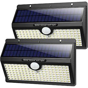 Gerui Solar Lights Outdoor[2019 Super Bright Wall Lights]138LED 2500mAh Solar Security Lights Motion